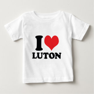I corazón/amor Luton Playera De Bebé