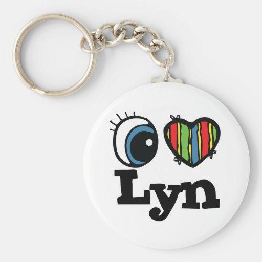 I corazón (amor) Lyn Llavero Personalizado