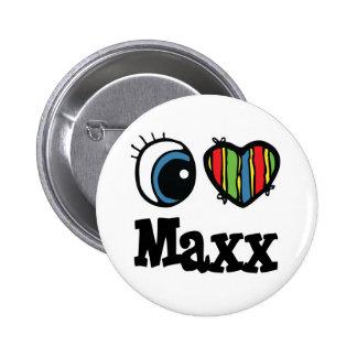 I corazón (amor) Maxx Pin Redondo 5 Cm