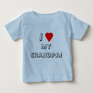¡I corazón (amor) mi abuelo! La camiseta del niño Remeras