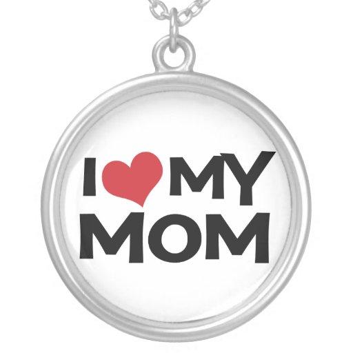 I corazón (amor) mi collar de la mamá