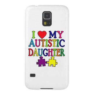 I corazón (amor) mi hija autística carcasas de galaxy s5