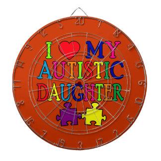 I corazón (amor) mi hija autística tabla dardos