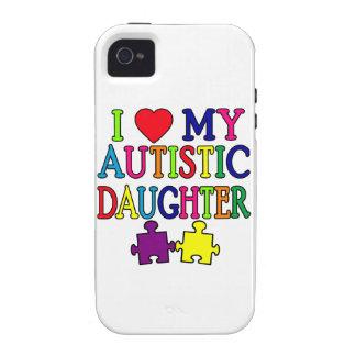 I corazón amor mi hija autística vibe iPhone 4 carcasa