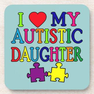 I corazón amor mi hija autística posavaso