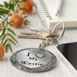 I corazón (amor) mi llavero de Westie