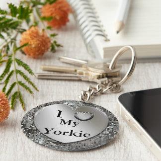 I corazón (amor) mi llavero de Yorkie