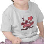 I corazón (amor) mi oso de peluche camisetas
