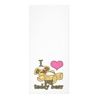I corazón (amor) mi oso de peluche lonas personalizadas
