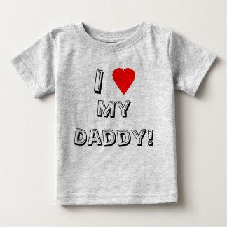 ¡I corazón (amor) mi papá! La camiseta del niño Remera