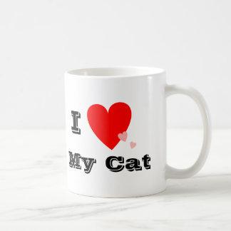 I corazón (amor) mi taza del gato