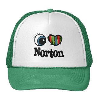 I corazón (amor) Norton Gorras