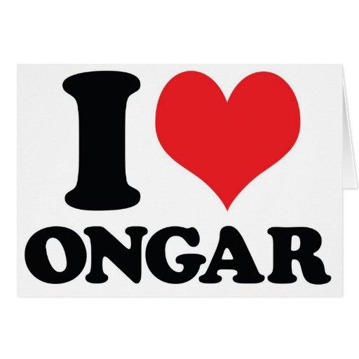 I corazón/amor Ongar Felicitacion