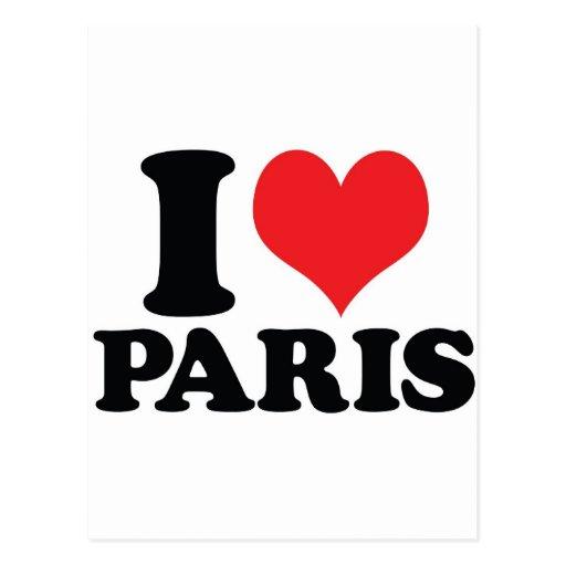 I corazón/amor París Tarjetas Postales