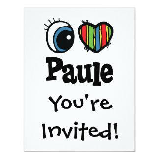"""I corazón (amor) Paule Invitación 4.25"""" X 5.5"""""""