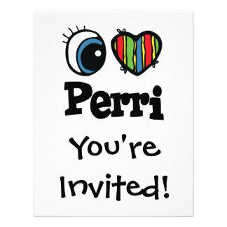 I corazón amor Perri Invitación