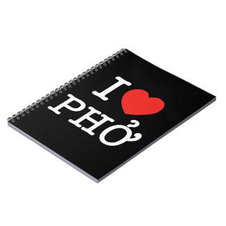 I corazón (amor) Pho Cuaderno