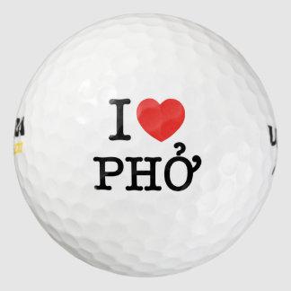 I corazón (amor) Pho Pack De Pelotas De Golf