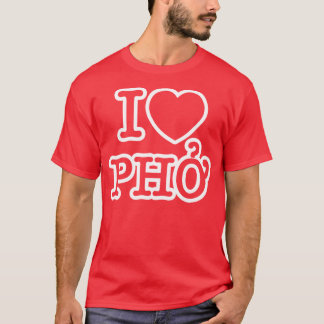 I corazón (amor) Pho Playera