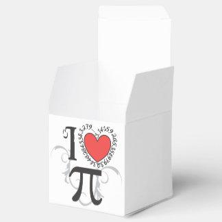 I corazón (amor) pi caja para regalos de fiestas