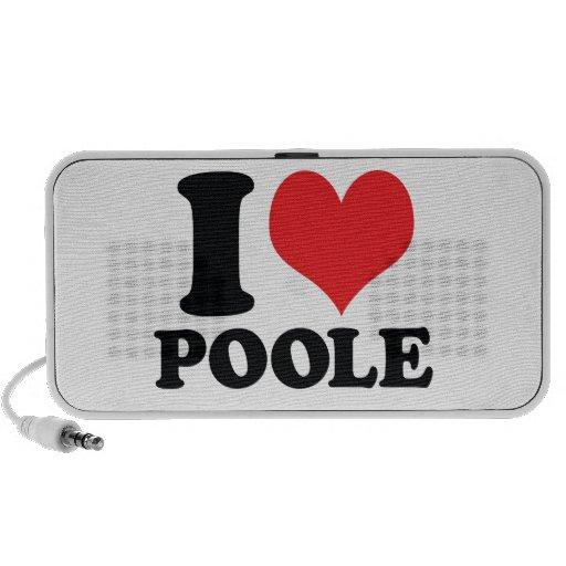 I corazón/amor Poole Mini Altavoz