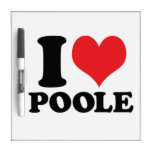 I corazón/amor Poole Pizarras Blancas
