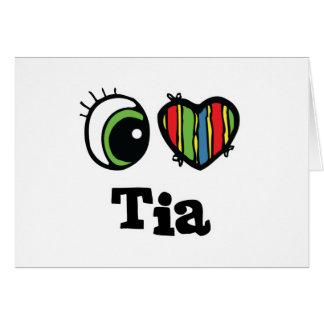 I corazón (amor) Tia Tarjeta De Felicitación