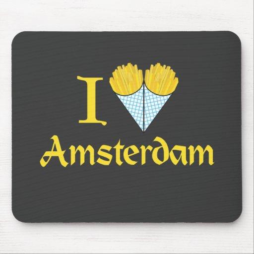 I corazón Amsterdam Alfombrilla De Ratón