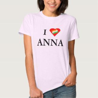 I corazón Ana (Hazare) Playeras