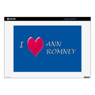 I corazón Ana Romney 38,1cm Portátil Calcomanías