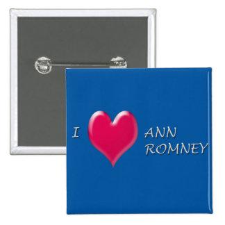 I corazón Ana Romney Pin