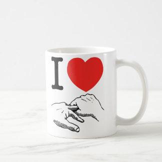 I corazón anal taza de café