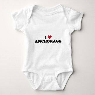 I corazón Anchorage Alaska Mameluco De Bebé