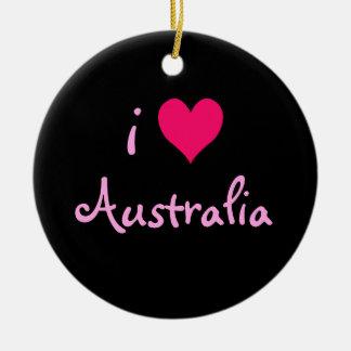 I corazón Australia Adorno Redondo De Cerámica