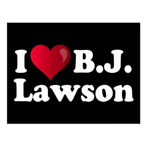 I corazón B.J. Lawson Tarjetas Postales