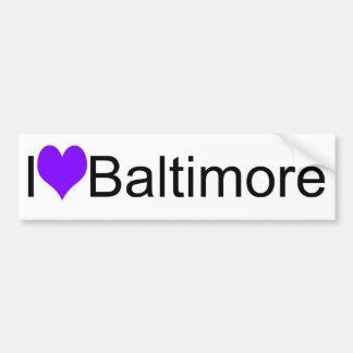 I corazón Baltimore Pegatina Para Auto