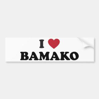 I corazón Bamako Malí Pegatina Para Auto