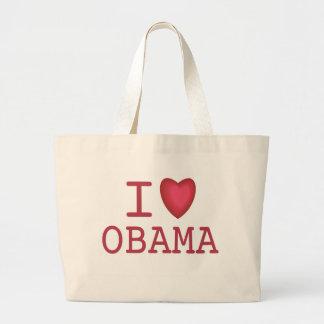 I corazón Barack Obama Bolsa Tela Grande