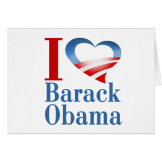 I corazón Barack Obama Tarjeta De Felicitación