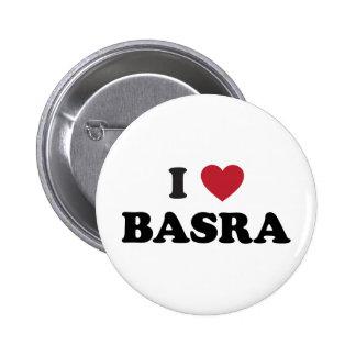 I corazón Basra Iraq Pin Redondo De 2 Pulgadas