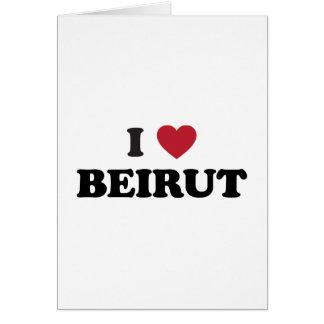 I corazón Beirut Líbano Felicitación