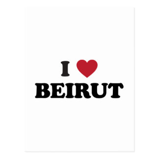 I corazón Beirut Líbano Tarjeta Postal