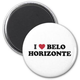 I corazón Belo Horizonte el Brasil Imán Redondo 5 Cm