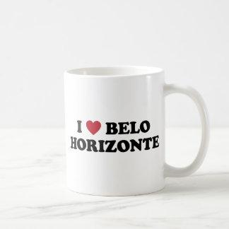 I corazón Belo Horizonte el Brasil Taza Clásica