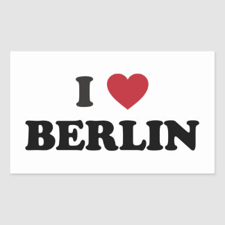 I corazón Berlín Alemania Pegatina Rectangular