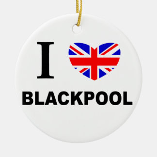 I corazón Blackpool Adorno Redondo De Cerámica