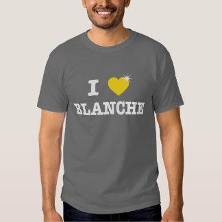 I corazón Blanche Playera
