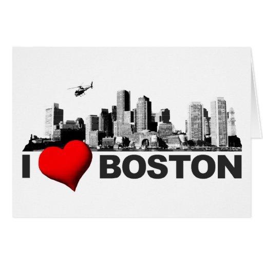 I corazón Boston Felicitaciones