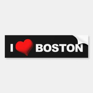 I corazón Boston [oscuridad] Pegatina Para Auto