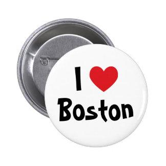 I corazón Boston Pin Redondo 5 Cm